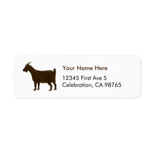 Watercolor Brown Return Address Label