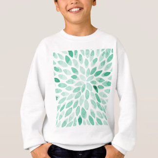 Watercolor brush strokes - aqua sweatshirt