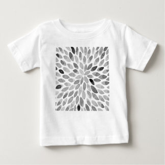 Watercolor brush strokes - black and white baby T-Shirt