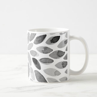 Watercolor brush strokes – black and white coffee mug