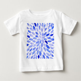 Watercolor brush strokes - blue baby T-Shirt