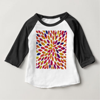 Watercolor brush strokes - multicolor baby T-Shirt