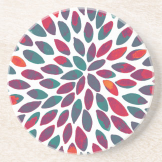 Watercolor brush strokes - multicolor coaster