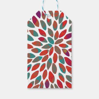 Watercolor brush strokes - multicolor gift tags