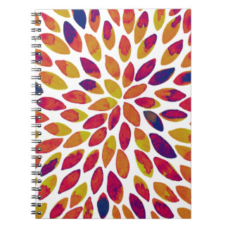 Watercolor brush strokes - multicolor notebook