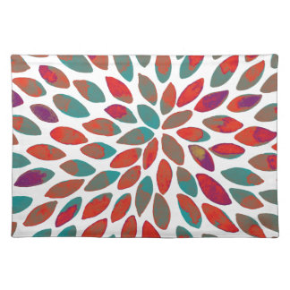 Watercolor brush strokes - multicolor placemat