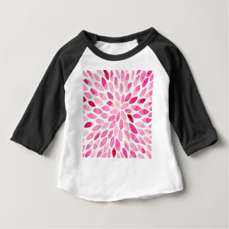 Watercolor brush strokes - pink baby T-Shirt
