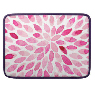 Watercolor brush strokes – pink palette sleeve for MacBook pro