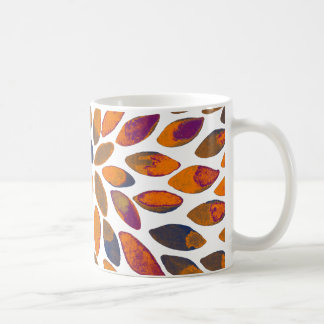 Watercolor brush strokes – rusty effect coffee mug
