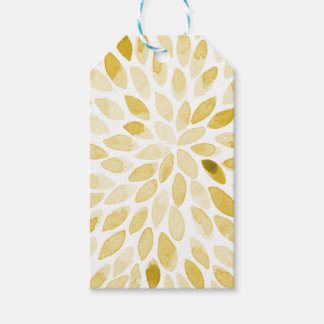 Watercolor brush strokes - yellow gift tags