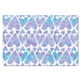 Watercolor Bubble Hearts teal purple lavender Tissue Paper