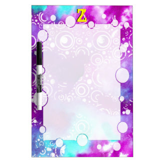 Watercolor Bubbles Purple/turquoise Dry-Erase Boards