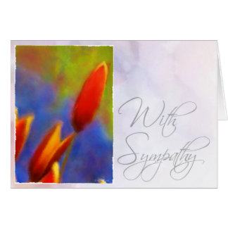 Watercolor Buds-Sympathy Card