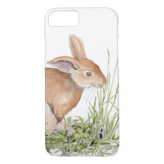 Watercolor Bunny Rabbit iPhone Cover