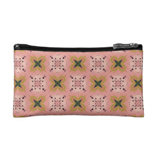 Watercolor burst design pattern cosmetic bag