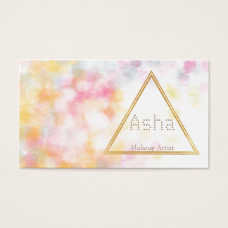 Watercolor business cards with triangle