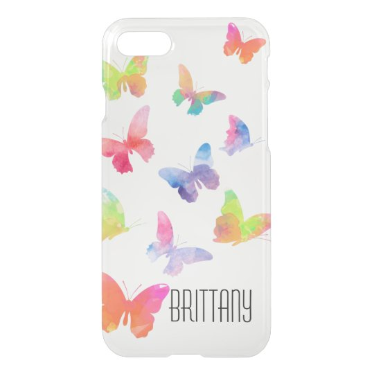 Watercolor Butterflies iPhone 7 Clearly™ Deflector iPhone 8/7 Case
