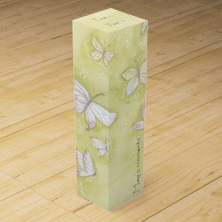 Watercolor butterflies wine gift box