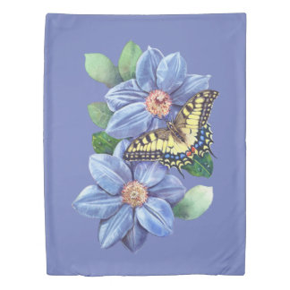 Watercolor Butterfly (1 side) Twin Duvet Cover