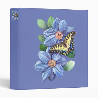 Watercolor Butterfly Binder
