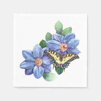 Watercolor Butterfly Cocktail Paper Napkins