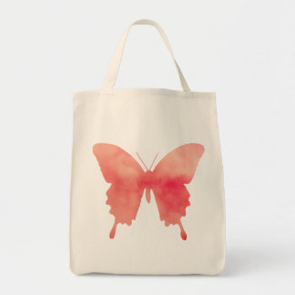 Watercolor Butterfly - Coral and Peach Tote Bag