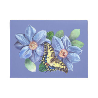 Watercolor Butterfly Doormat
