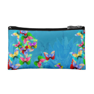 Watercolor butterfly elegant beautiful pattern cosmetic bag
