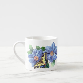 Watercolor Butterfly Espresso Cup