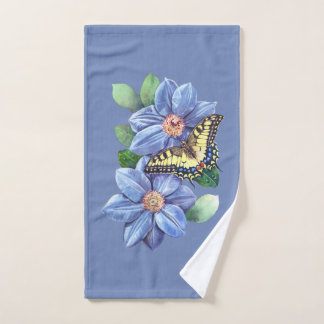 Watercolor Butterfly Hand Towel