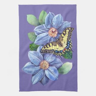 Watercolor Butterfly Kitchen Towel