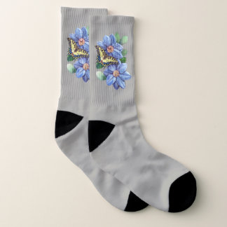 Watercolor Butterfly Large All-Over-Print Socks 1