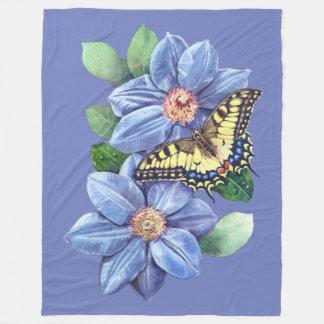 Watercolor Butterfly Large Fleece Blanket