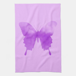 Watercolor Butterfly - Lavender and Violet Kitchen Towel