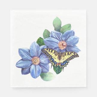 Watercolor Butterfly Luncheon Paper Napkins