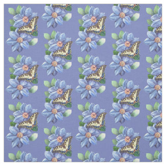 Watercolor Butterfly Pattern Fabric