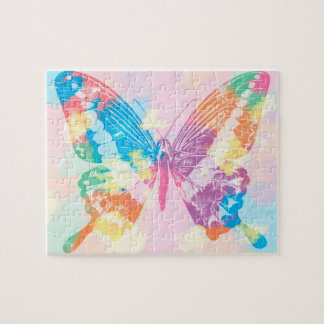 Watercolor Butterfly Puzzle