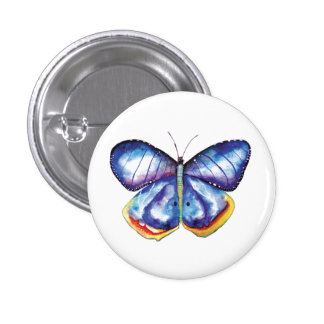 Watercolor Butterfly Round Badge 1 Inch Round Button