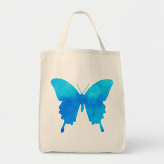 Watercolor Butterfly - Shades of Sky Blue Tote Bag
