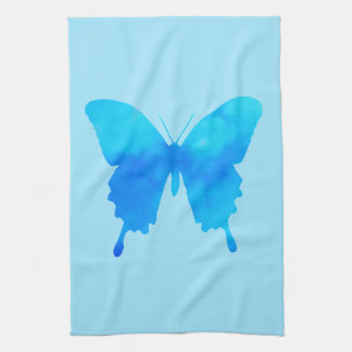 Watercolor Butterfly - Shades of Sky Blue Towel