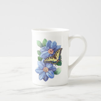 Watercolor Butterfly Tea Cup