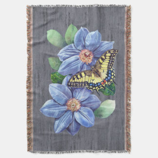 Watercolor Butterfly Throw Blanket