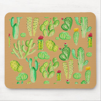 Watercolor Cacti Mouse Pad
