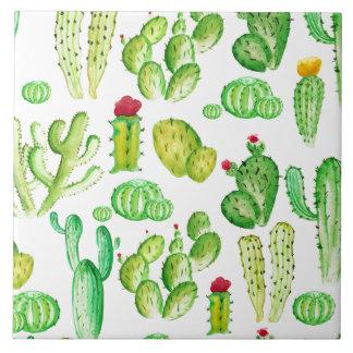 Watercolor Cacti Tile