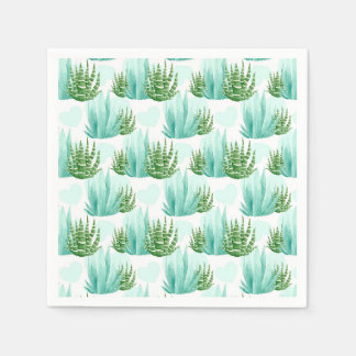 Watercolor cactus pattern party napkins disposable napkins