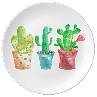 Watercolor Cactus Plate