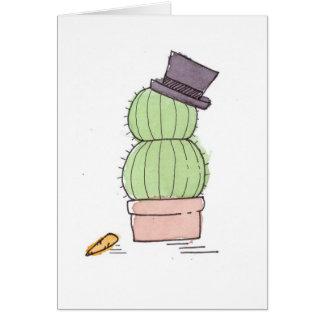 Watercolor Cactus Snowman Card
