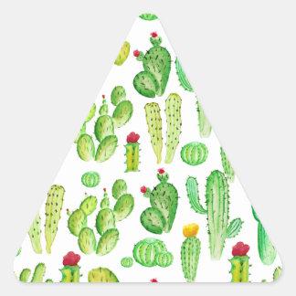 watercolor cactus triangle sticker