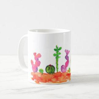 Watercolor cactuses mug. coffee mug