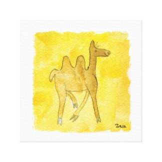 Watercolor Camel Canvas Wall Art